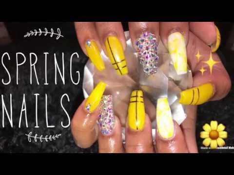 Acrylic Nails Fill | Spring Nails