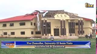 UNIBEN VC visits area affected by rainstorm