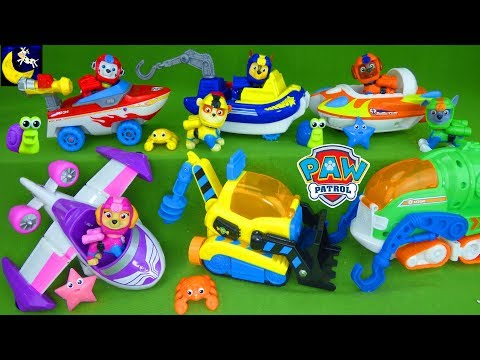 Paw Patrol Toys NEW Transforming Sea Patrol Vehicles & Sea Friends Unboxing Marshall Chase Skye Toys