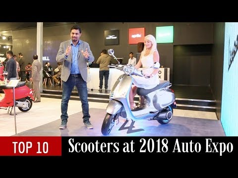 Top 10 Scooters at 2018 Auto Expo