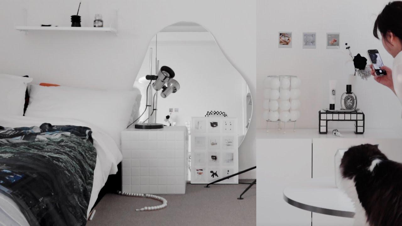 [Room decor] 방 구조 바꾸기, 자취방 벽 꾸미기 브이로그ㅣ포스터 만들기ㅣ가구 재배치ㅣ원룸 인테리어ㅣ짧은 룸투어ㅣ룸데코