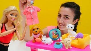 Barbie oyuncak videoları. Sevcan Barbie'ye veteriner mesleğini buluyor