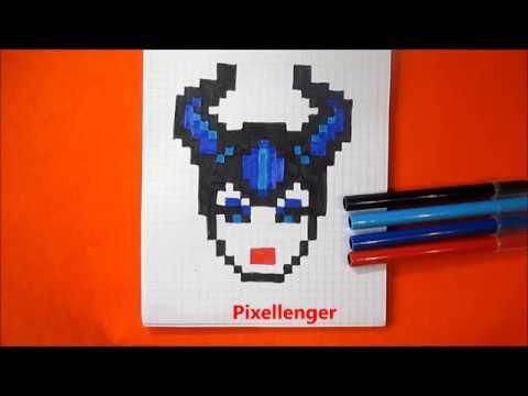 Волшебница Малефисента Как рисовать по клеточкам  Fairy Maleficent How To Draw Pixel Art