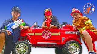 Little Heroes Fire Engines and the Kid Police Heroes - New Sky Kids Super Episode
