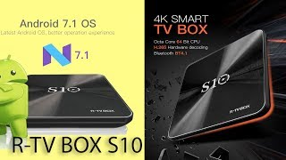 крутой и Мощный R TV Box S10 Android 7.1 DDR4 Один из лучших 8 Ядерных Обзор