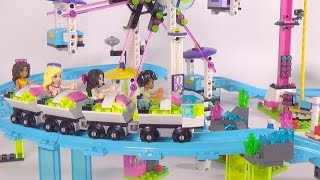 LEGO Friends Amusement Park Roller Coaster - Playset 41130 Toy Unboxing & Speed Build
