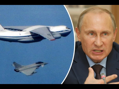 RAF Typhoon jets are scrambled to intercept Russian bomber planes approaching British airspace