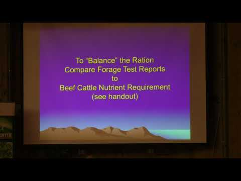 Dr. Ed Rayburn - Forage Testing and Feeding Beef Cattle - 3 of 5