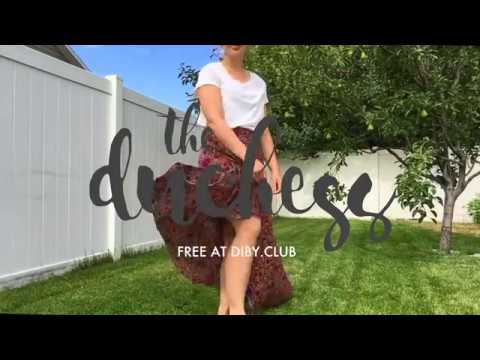 The Duchess High Low Skirt Release   Happy Dance by DIBY Club