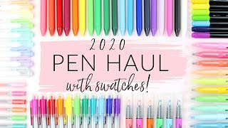 PEN HAUL 2020 WITH SWATCHES | HUGE STATIONERY HAUL