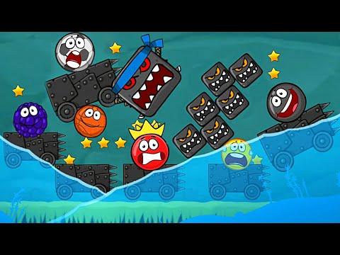 Красный Шар - мод на 100 машин и квадратов на уровне ! Red Ball 4 mod шарик от Спуди   !
