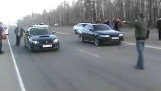 Драг(стандарт) Subaru Legacy B4 vs Toyota Mark II