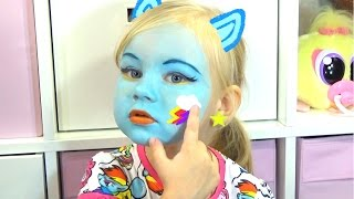 Алиса РЕЙНБОУ ДЭШ макияж аквагрим и играем RAINBOW DASH face painting for kids entertainment(Алиса РЕЙНБОУ ДЭШ макияж аквагрим и играем RAINBOW DASH face painting for kids entertainment https://youtu.be/ll0e4yldHWg Мой второй канал..., 2016-10-20T12:02:51.000Z)