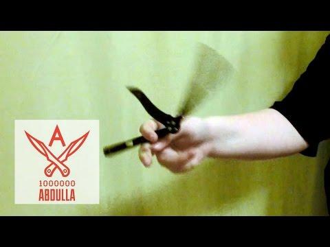 Cмотреть видео онлайн Нож бабочку крутит юный мастер