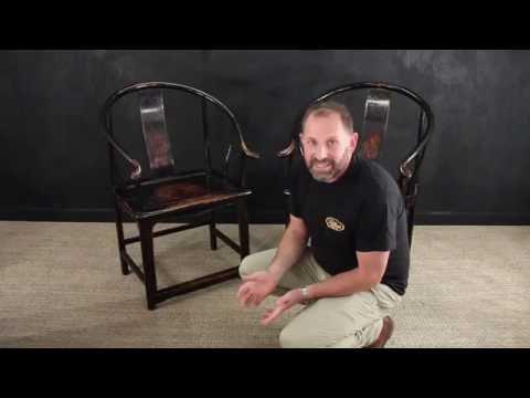 Antique Qing Dynasty Chairs.