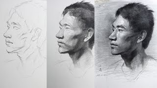 Portrait Drawing Tutorial Process