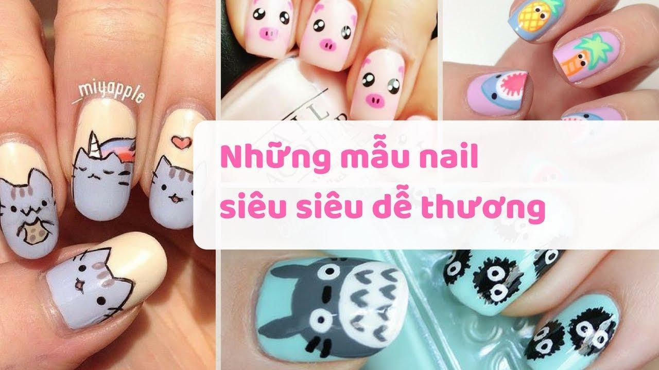 Những mẫu nail siêu siêu dễ thương