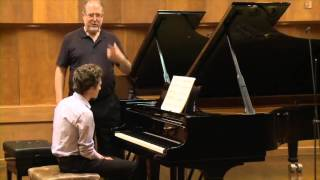 Natanel Grinshtein in master class: Chopin: Etude op.25 no.11 in A minor