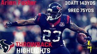 Arian foster was one of the smoothest running backs his time with great versatility in power and finesse as he carved titans defense up outplayed ...