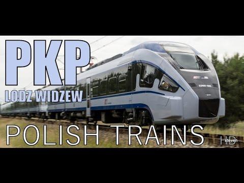 Pociągi w Łodzi - Polish Trains - Widzew Lodz - Polskie pociągi - Dworzec Łódź Widzew