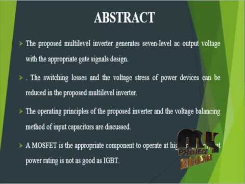 Design and Implementation of a Novel Multilevel DC–AC Inverter | Final Year  Projects 2016 - 2017