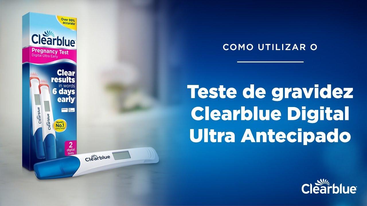 Como utilizar: Teste de gravidez Clearblue Digital Ultra Antecipado (apenas para Portugal)