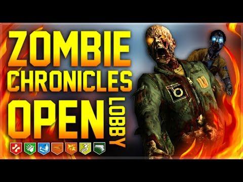 ZOMBIE CHRONICLES OPEN LOBBY + CHILL | BO3 PS4! {SHORT}