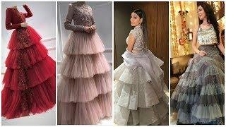 Stylish trendi 2019 Frilly lahenga Dress, Frilly Long Dress Ideas, Wedding Wear