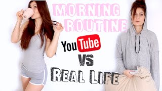 MORNING ROUTINE: Youtube VS Real Life ! - Lufy