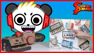 Nintendo Labo CARDBOARD ROBO CAR AND HOUSE ! Let's Play with Combo Panda