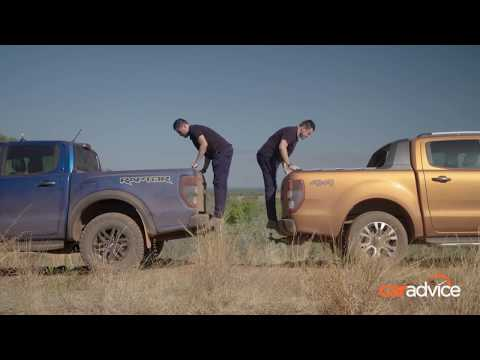 Ford Ranger Raptor v Ranger Wildtrak suspension travel