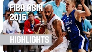 Jordan v Kazakhstan - Group F - Game Highlights - 2015 FIBA Asia Championship