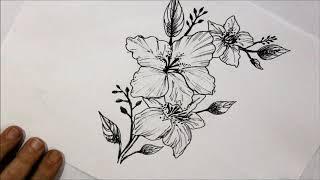 kolay çiçek çizimi/easy flower drawing