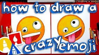 How To Draw The Crazy Face Emoji