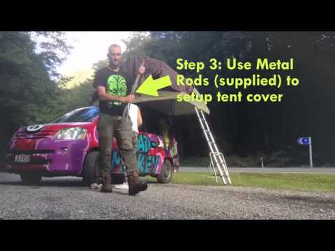 How to Open a Wicked Campers Rooftop Tent