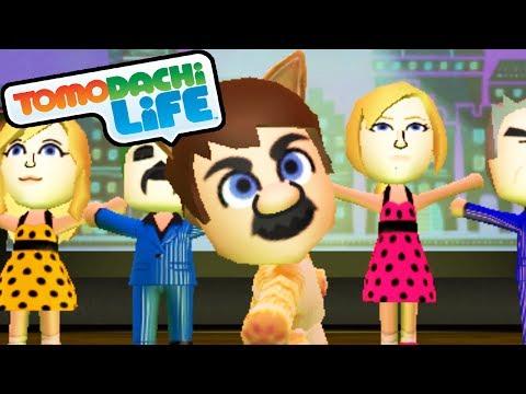 Tomodachi Life 3DS Cat Mario Musical, Samus Suit, DK Shirt Gameplay Walkthrough PART 9 Nintendo Mii