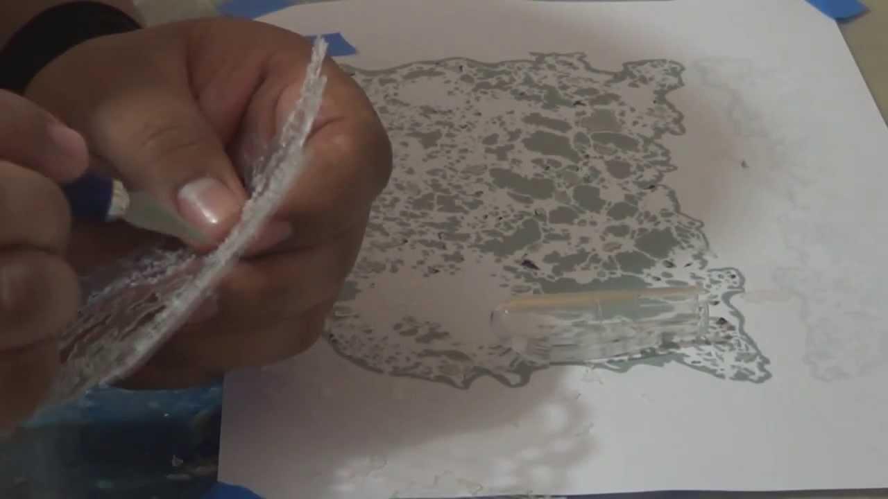 Tutorial plantilla para aerografia - YouTube