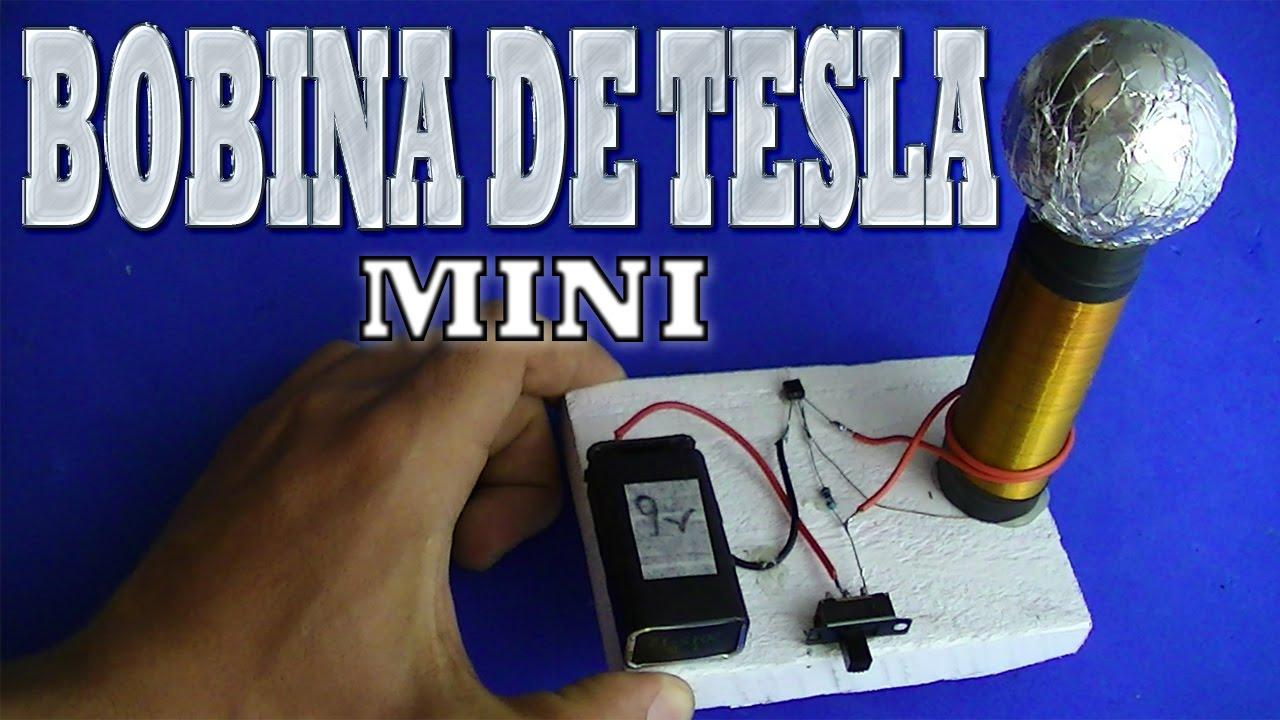 Como Fazer Mini Bobina De Tesla Facil Youtube