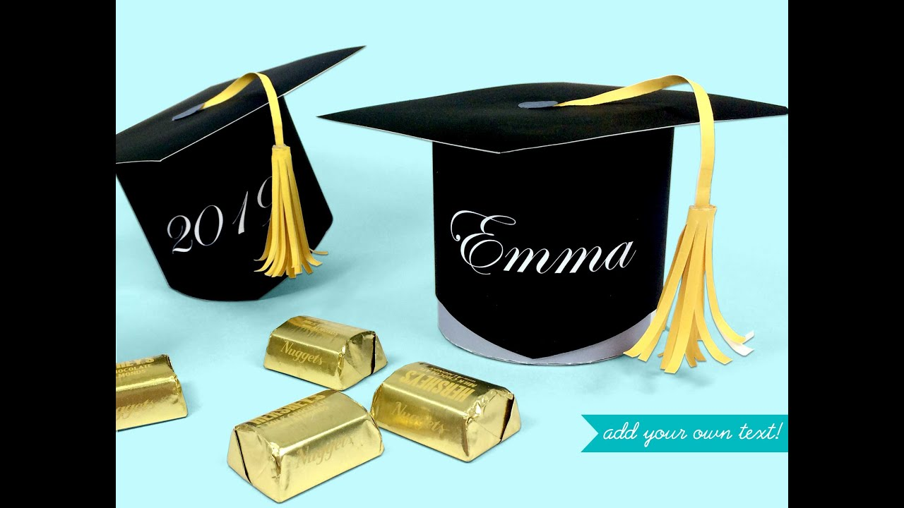 making the graduation scrapbook ideas. Make A Graduation Cap Favor And Candy Box Printable Kit Making The Scrapbook Ideas