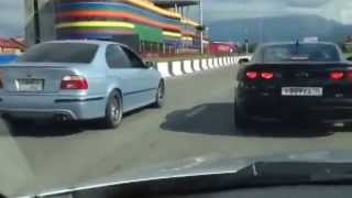 BMW M5 e39 vs Camaro SS (Russia)(БМВ М5 е39 против Шевроле Камаро СС... BMW M5 e39 vs Chevrolet Camaro SS..., 2014-07-05T08:35:43.000Z)