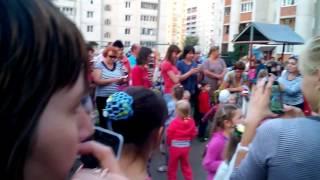 Сегодня в Шилово на ул  Курчатова детская дискотека  г  Воронеж 05 09 2016г