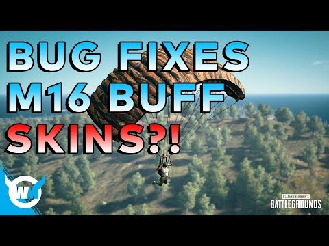 PUBG UPDATE: M16 BUFF, BUG FIXES... NEW SKINS!? - Battlegrounds Patch Notes + Gameplay