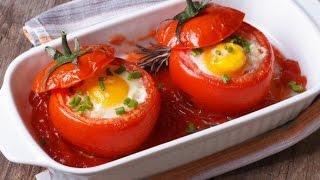 Омлет в помидоре.