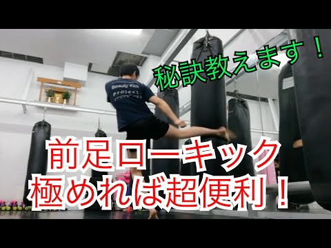 キックボクシング『前足ローの打ち方とバリエーション』解説したんぷ