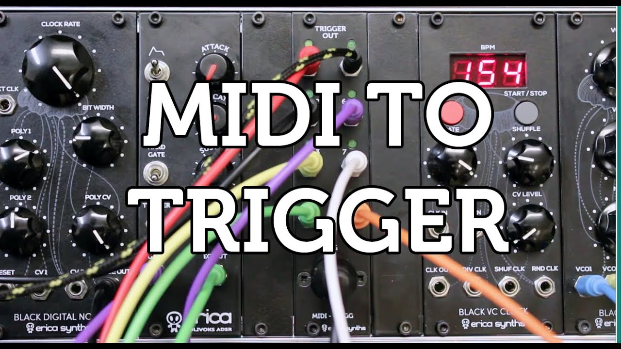 Erica Synths MIDI TO TRIGGER module overview