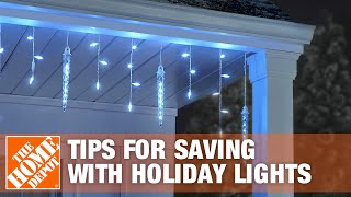 Tips For Saving Energy With Christmas Lights - The Home Depot