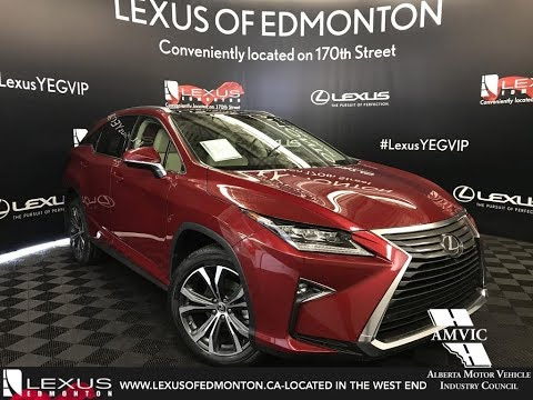 Red 2018 Lexus RX 350 Executive Package Walkaround Review Downtown Edmonton Alberta