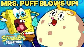 Every Time SpongeBob Makes Mrs. Puff INFLATE!  SpongeBob