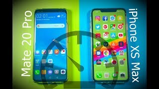 Huawei Mate 20 Pro vs iPhone XS Max Speed Test Comparison