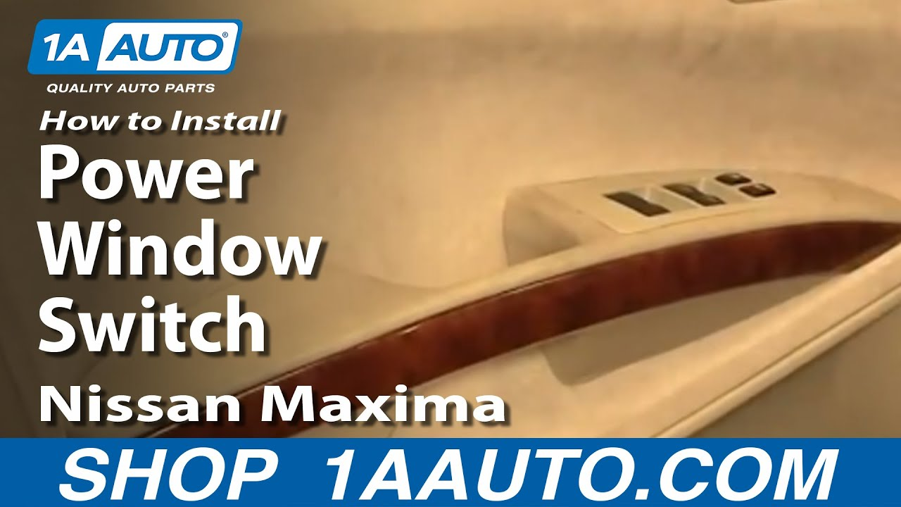 How To Replace Power Window Switch 04 08 Nissan Maxima